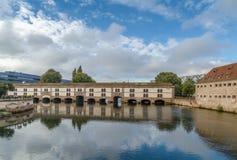堰坝Vauban,史特拉斯堡 库存图片