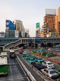 堵塞东京业务量 图库摄影