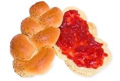 堵塞卷草莓甜点 免版税库存图片