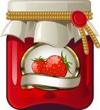 堵塞瓶子草莓 图库摄影