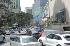 堵车吉隆坡马来西亚 库存图片