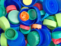 塑料上面和盖帽 免版税库存图片