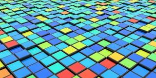 塑料五颜六色的立方体背景 免版税图库摄影