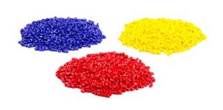 塑料五颜六色的粒子 免版税图库摄影