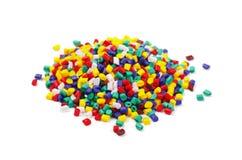 塑料五颜六色的粒子 库存图片