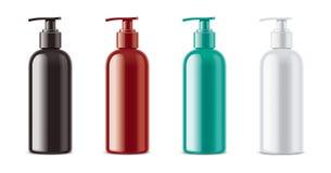 塑料化妆浪花大模型 不透明的瓶 皇族释放例证