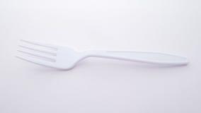 塑料叉子 免版税库存照片