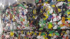 塑料回收的容器切菜机废物压碎器 股票录像