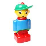 塑料块人玩具 免版税库存图片