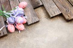 塑料复活节彩蛋 免版税库存图片