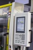 塑料射入机器控制板  库存图片