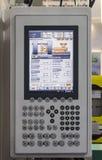 塑料射入机器控制板  免版税库存照片