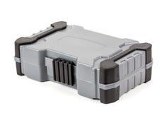 塑料工具箱孤立白色背景 库存图片