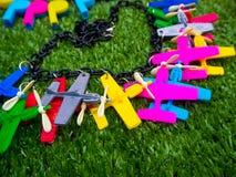 塑料平面玩具 免版税库存照片