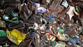 塑料废物,垃圾-宠爱瓶回收 股票视频
