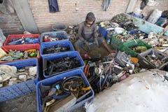 塑料废物 免版税库存照片
