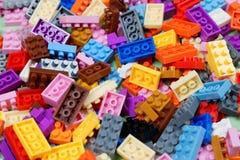 塑料建筑玩具 库存图片