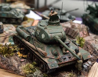 塑料式样坦克 免版税库存图片