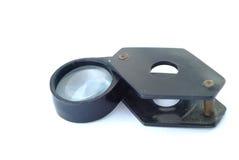 塑料手透镜 库存图片