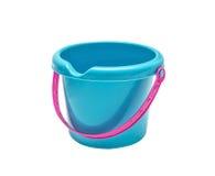 塑料明亮的玩具蓝色桶 免版税库存图片