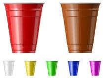 塑料杯 免版税图库摄影