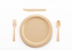 塑料板材匙子叉子和刀子 免版税库存图片