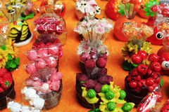 塑料果子装饰 免版税图库摄影