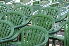 塑料椅子观众 免版税库存图片