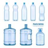 塑料水瓶现实集合 库存照片