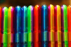 塑料汇编玩具的颜色 库存照片