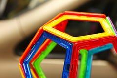 塑料汇编玩具的颜色 免版税图库摄影