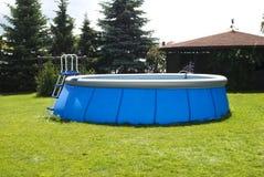 塑料池游泳 免版税图库摄影