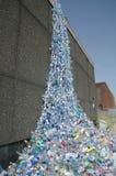 塑料瀑布 库存图片