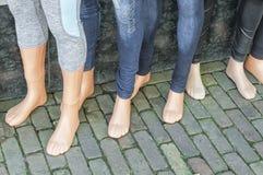 塑料玩偶feets 库存照片