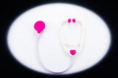 塑料玩具听诊器 库存图片
