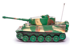 塑料玩具坦克 免版税库存照片