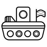 塑料玩具小船象传染媒介 库存例证