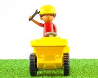 塑料玩具技巧卡车 库存图片