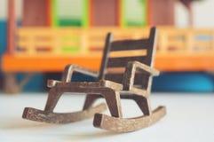 塑料玩具椅子 免版税库存图片