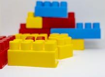 塑料玩具积木 免版税库存图片