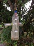 塑料瓶做对昆虫陷井 库存照片