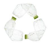 塑料瓶回收标志 免版税库存照片