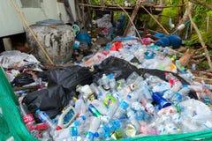 塑料瓶回收 免版税库存照片