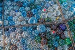 塑料瓶污染 免版税库存照片