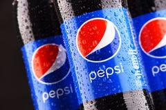 塑料瓶碳酸化合的软饮料百事可乐 库存照片