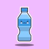 水塑料瓶kawawii标志 免版税图库摄影