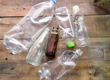 塑料瓶recyecle 免版税库存照片
