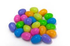塑料的复活节彩蛋 库存图片
