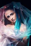 塑料的未来派化妆师 免版税库存图片