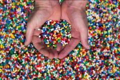 塑料的粒子 库存图片